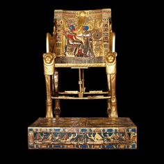 Throne of Tutankhamun, Valley of Kings (Egypt) 1332–1323 BC (18th Dynasty) Ronald Dunlap Photography.  Images shot for the Egyptian Supreme Council of Antiquities