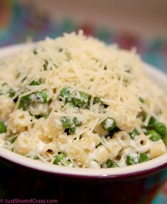 Pasta with Peas and Ricotta   Just Short of Crazy