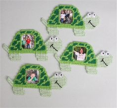 Turtle Picture Frames Magnets Plastic Canvas Kit