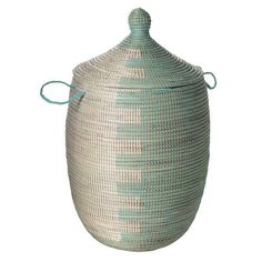 woven lidded basket for laundry or toys?
