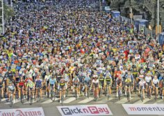 More than 30 000 riders weaved though Cape Town and overcame winds to cross the finish line of this year's Cape Argus Pick n Pay Momentum Cycle Tour. Finish Line, Cycling, Basketball Court, Tours, Memories, Gallery, Sports, Memoirs, Hs Sports
