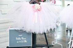 fiesta tematica bailarina2 Fiesta para niñas bailarinas en rosa y blanco