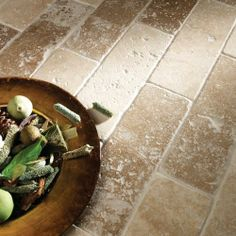 Large image of Tumbled Noce Travertine Tile - Wickes