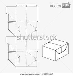 Tuck-In Side Slot Stock Vector Illustration 236075917 : Shutterstock