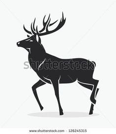 Isolated deer - vector illustration - stock vector