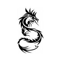 Трафарет Черный Дракон - татуировки на несколько дней