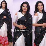 Kavya Shetty in a half and half Saree