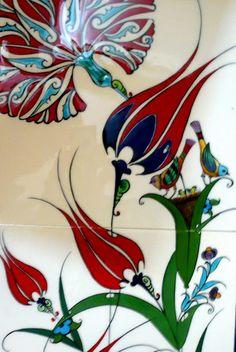 Turkish Art, Turkish Tiles, Turkish Design, Portuguese Tiles, Moroccan Tiles, Tile Patterns, Pattern Art, Tulip Tattoo, Stencil