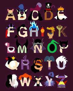 Disney Villains Alphabet