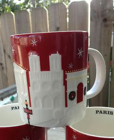 Starbucks Coffee Paris France 18 oz Christmas 2013 City Relief Mug Xmas | eBay