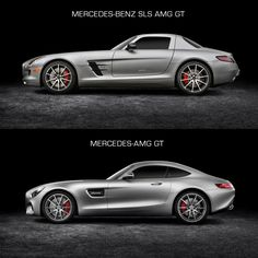 Mercedes-Benz SLS AMG GT and Mercedes-AMG GT - Design Comparison