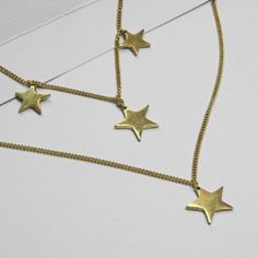 Casted Star Multi Layered Necklace