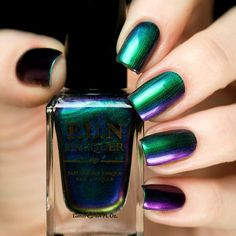 FUN Lacquer Secret is a teal holographic glitter polish in a clear base. This nail polish is handcrafted and designed by Yuin Ying, creator of FUN Lacquer. Love Nails, How To Do Nails, Pretty Nails, Fun Nails, Nail Polish Designs, Nail Polish Colors, Nail Designs, Nail Polishes, Chrome Nail Polish