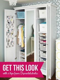 Get This Look - Organized Armoire via Remodelaholic.com #organized #closets