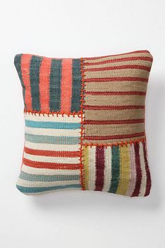 ANTHROPOLOGIE Banded Dhurrie Pillow