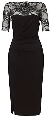 Gina Bacconi Double Knit Power Stretch Dress, Black #dress #black #lace #style