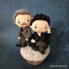 Cumbercupcakes: Victorian Sherlock and John. Inspired by the July 9, 2015 video Sherlock: A First Look At The Sherlock Special. John Watson (Martin Freeman) & Sherlock Holmes (Benedict Cumberbatch).