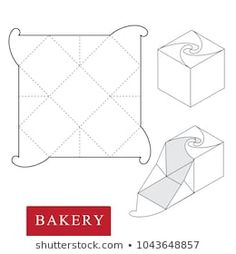 Immagine vettoriale stock 1043648857 a tema Package Bakeryvector Illustration Boxpackage Template Isolated (royalty free) Paper Gift Box, Diy Gift Box, Diy Box, Cajas Silhouette Cameo, Homemade Gift Bags, Paper Box Template, Box Templates, Packaging Box, Geometric Origami
