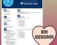 nurse resume etsy nursing resume templateresume templatesregistered