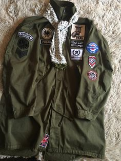 Some more patches added, Pretty Green Parka Mod Fashion, Fashion Wear, Vespa, Fred Perry Polo, Fishtail Parka, Mod Look, Green Parka, Parka Style, Skinhead