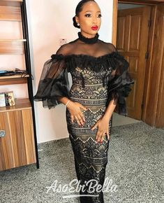 An is a wedding guest {bella} looking stunning in aso-ebi – the fabric/colors of the day, at a - AsoEbi Bella. Nigerian Lace Dress, African Lace Dresses, Latest African Fashion Dresses, African Inspired Fashion, African Print Fashion, Africa Fashion, African Clothes, Lace Dress Styles, Ankara Gown Styles