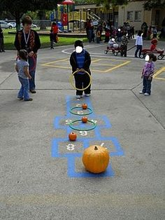 Ring Toss Pumpkin Game