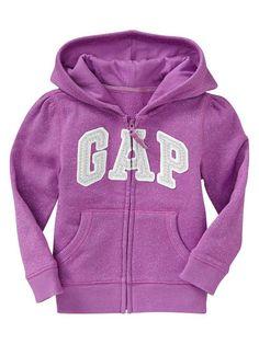 Baby Gap - Lurex arch logo hoodie - Purple Muse - $29.95