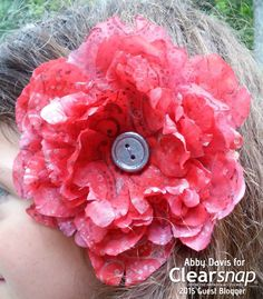 Create this stunning Latin inspired stamped hair flower using the Jumbo Rollagraph Design Wheel & Izink. Abby shows how in this simple tutorial: http://blog.clearsnap.com/2015/09/latin-inspired-stamped-hair-flower/