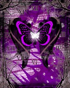 """""""Life, Love, and Death"""" . Brushes by me and [link] Life, Love, and Death - Love Butterfly Wallpaper Iphone, Iphone Wallpaper, Beautiful Butterflies, Artsy Fartsy, Raven, Favorite Color, Death, Deviantart, Purple"""