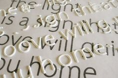 Holy smokes. This may be the best crafting tip of the month. print out the font you want and place wax paper over it. Trace letters with puffy paint, let dry, then use mod podge to secure letters to canvas, etc. Brilliant.