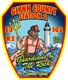 Glynn County Fire Department - Station 2 Logo