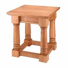 Shop for End Tables Unfinished Pine Sofa End Table Kit Mission Furniture, Solid Wood Furniture, Sofa End Tables, Green Sofa, Solid Pine, Home Improvement, Kit, House, Home Decor