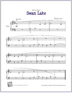 Swan Lake (Tchaikovsky) for Easy Piano - http://makingmusicfun.net/htm/f_printit_free_printable_sheet_music/swan-lake-piano.htm