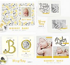 A Whimsy Baby vol 2 set of four 5x7 Cards