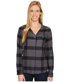 Isabel Long Sleeve Shirt Women's Long Sleeve Button Up Mountain Hardwear, Discount Shoes, Button Up, Long Sleeve Shirts, Plaid, Blouse, Graphite, Mall, Clothes