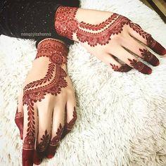 Pretty Henna Designs, Simple Mehndi Designs, Mehandi Designs, Henne Tattoo, Red Henna, Wedding Henna, Mehndi Design Images, Latest Mehndi, Natural Henna