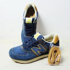 Los 2.013 contadores auténticos clásicos zapatillas hombres de mezclilla azul de los hombres coreanos NewBalance