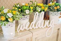 Желтая свадьба Маши и Вити - Дизайнер-флорист и свадебный дизайнер Яна Фея