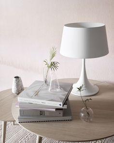 White lamp wooden coffe table  light interior design glass  BoConcept Trójmiasto