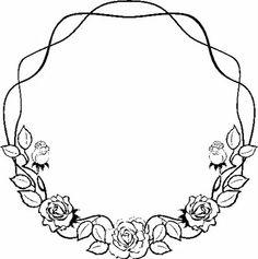 rose garland | CLIP-ART: Plant / Flowers / wreath; garland