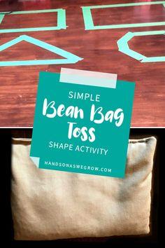 Bean Bag Activities, Bean Bag Games, Sensory Activities, Hands On Activities, Preschool Activities, Fun Learning Games, Teaching Shapes, Preschool Colors, Activity Room