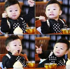 """Daebak proves that he is a mukbang (eating broadcast) master in new """"The Return of Superman"""" stills. On June 11, the show's producers revealed a series of photos showing Daebak's energetic reaction to trying eel for the first time in his young life.  According to the producer..."""