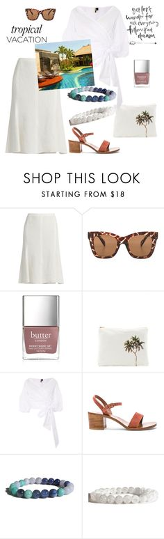 """Welcome to Paradise: Tropical Vacation"" by zenstore ❤ liked on Polyvore featuring Calvin Klein Collection, Quay, Butter London, Samudra, Topshop and K. Jacques"