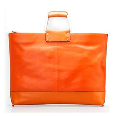 So lovely. 14 inch Orange/Yellow/Black Leather Crossbody Shoulder Laptop Bag for Ladies