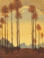 List of Works for Engelbert Lap Linocut Prints, Painting Prints, Paintings, Trees To Plant, Artsy Fartsy, Printmaking, Auction, Fine Art, Landscape