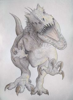 Everything related to Jurassic Park and it's franchise. Books, toys, films, etc. Jurassic World Hybrid, Jurassic World Indominus Rex, Jurassic Park World, Dinosaur Sketch, Dinosaur Drawing, Dinosaur Art, Dinosaur Images, Dinosaur Pictures, Animal Sketches