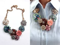 25 DIY Statement Necklaces to Rock on New Year's Eve | http://hellonatural.co/25-diy-statement-necklaces/