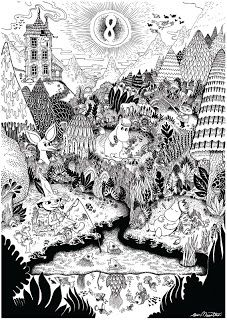 Tove Jansson - moomin monorex print 1 VIA Le Cornacchie della Moda Art And Illustration, Illustrations, Tove Jansson, Colouring Pages, Coloring Books, Moomin Books, Screen Printing, Art Drawings, Fairy Tales