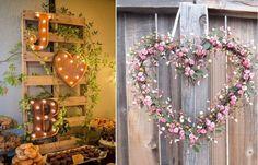 Decoração de Casamento Simples: + de 300 Ideias incríveis! Flower Decorations, Wedding Decorations, Decor Wedding, Diy Wedding, Wedding Ideas, Wedding Things, Wedding Details, Ladder Decor, Floral Wreath