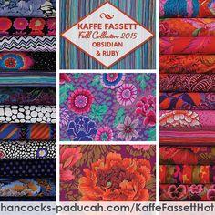 Hot color story from @kaffefassettstudio @brandonmably Fall Collective! #kaffefassett #quilt #hancocksofpaducah #quilting #fabric #instafav #instagood